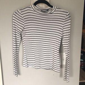 Lulu's black and white striped long sleeve